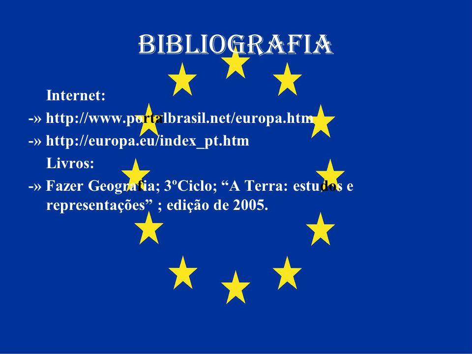 Bibliografia Internet: -» http://www.portalbrasil.net/europa.htm