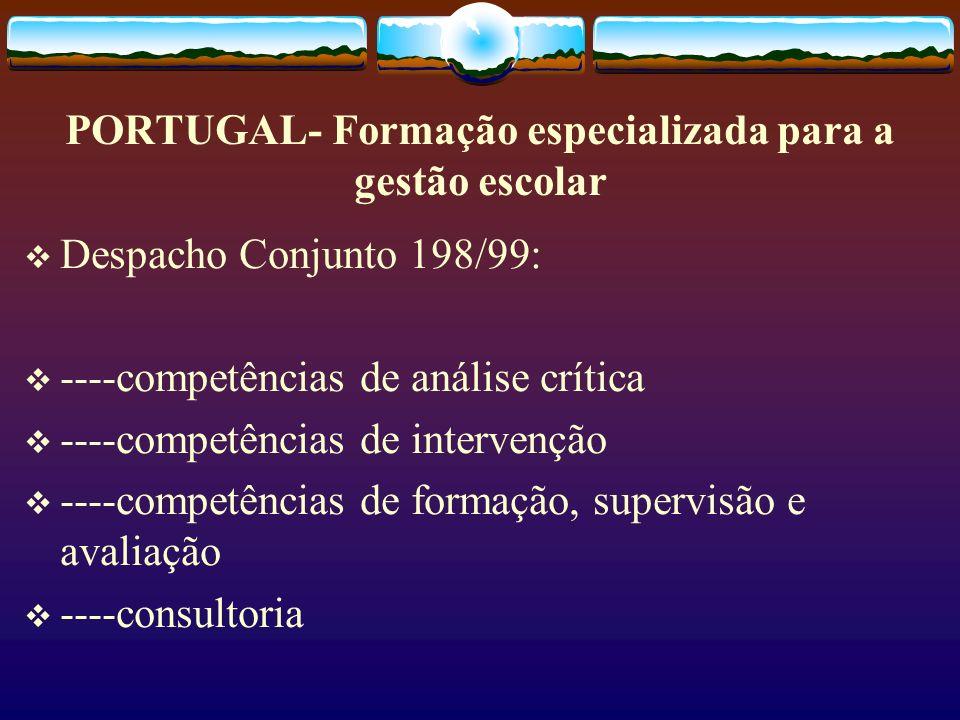 PORTUGAL- Formação especializada para a gestão escolar