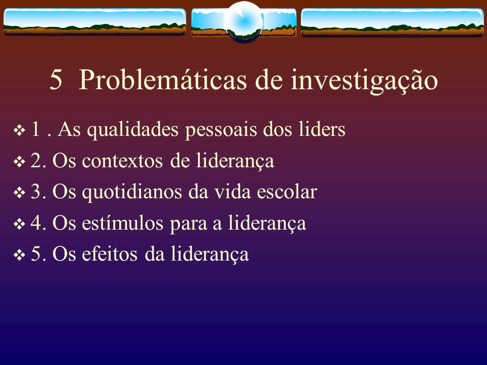 5 Problemáticas de investigação