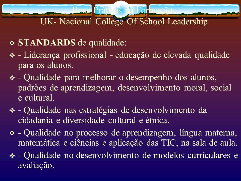 Boas Práticas na Formação- UK- Nacional College Of School Leadership