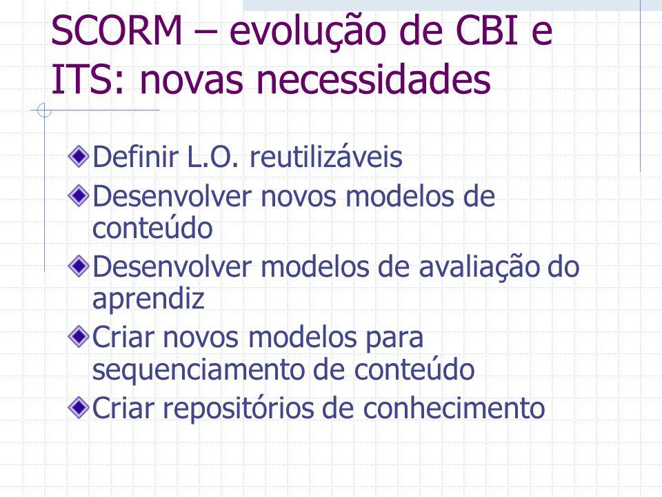 SCORM – evolução de CBI e ITS: novas necessidades