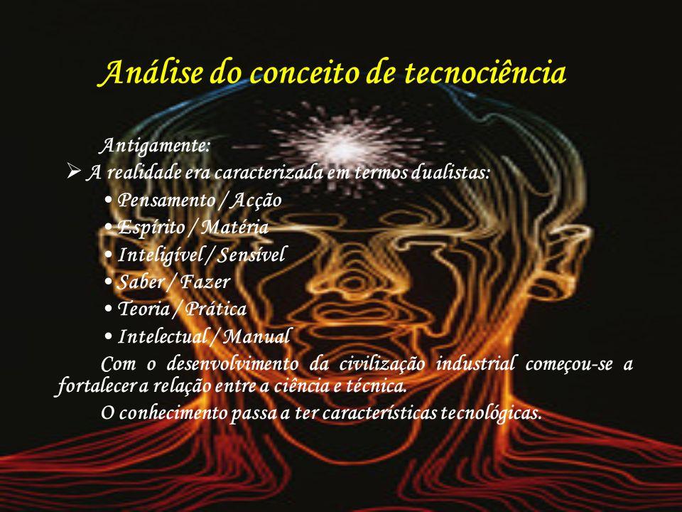 Análise do conceito de tecnociência