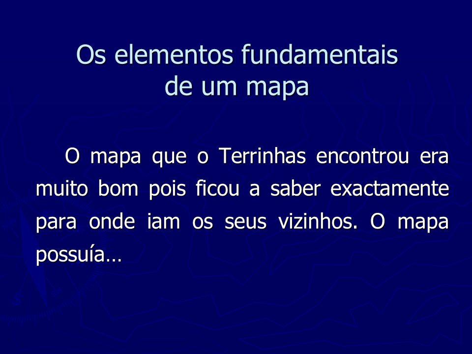 Os elementos fundamentais de um mapa