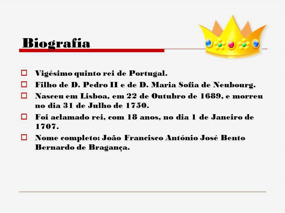 Biografia Vigésimo quinto rei de Portugal.