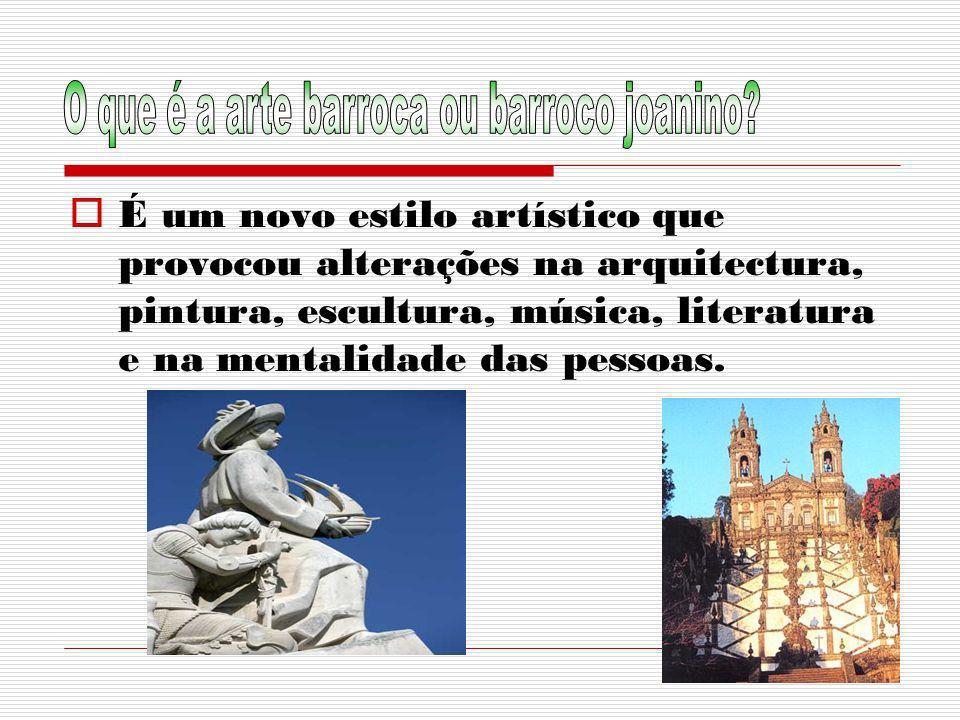 O que é a arte barroca ou barroco joanino