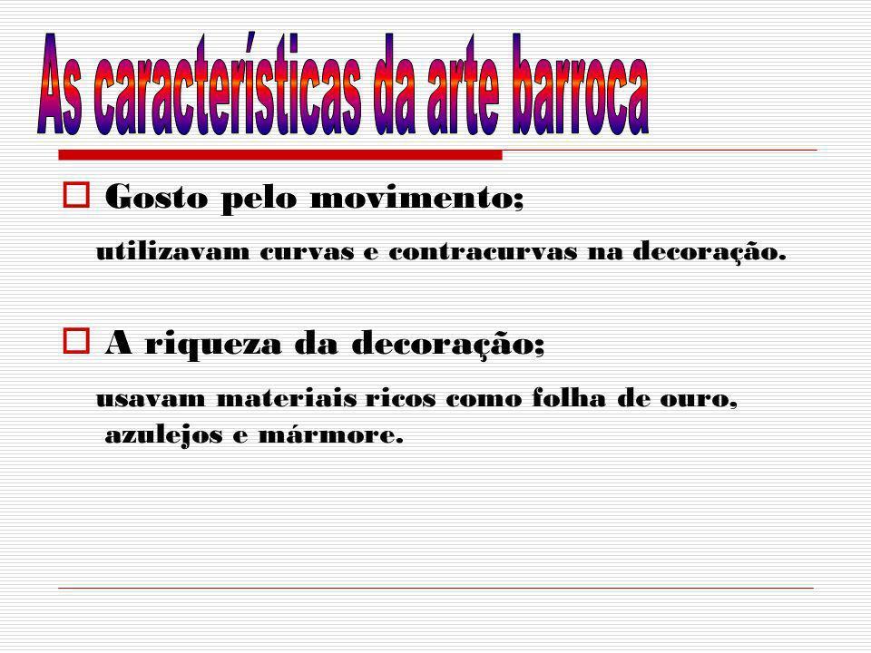 As características da arte barroca