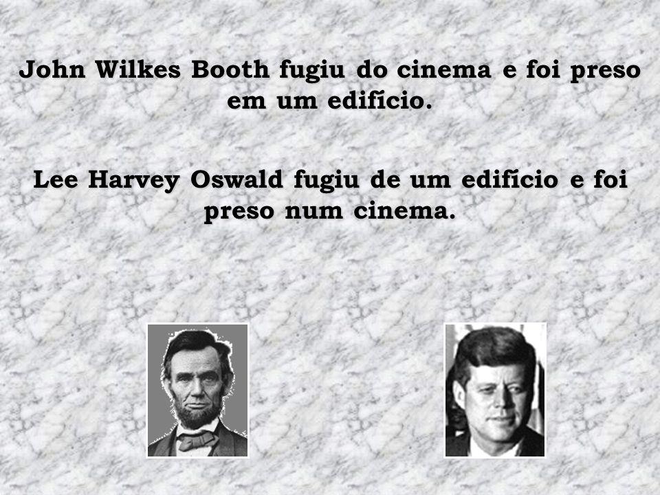 John Wilkes Booth fugiu do cinema e foi preso em um edifício.
