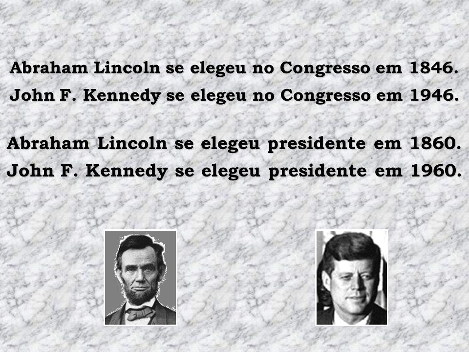 Abraham Lincoln se elegeu presidente em 1860.