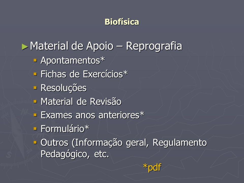 Material de Apoio – Reprografia