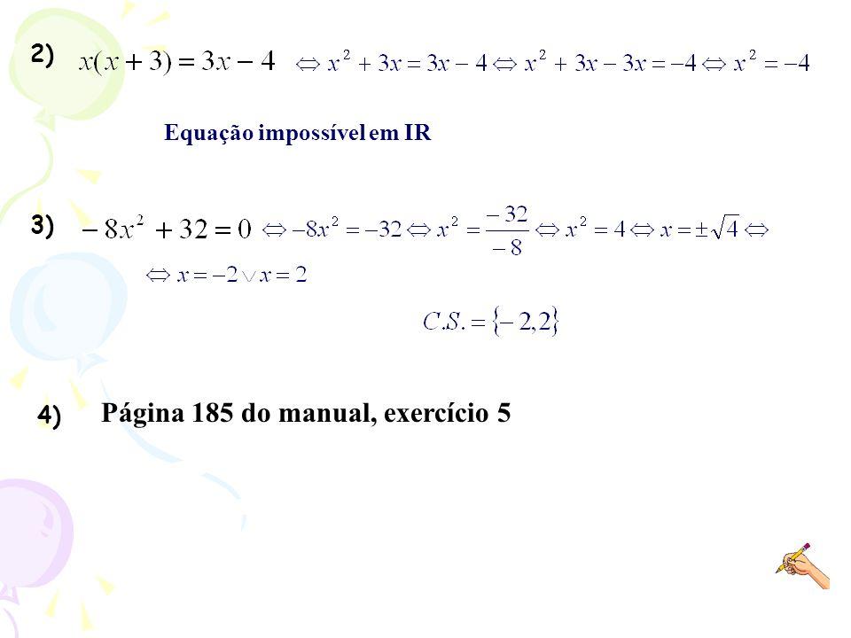 Página 185 do manual, exercício 5