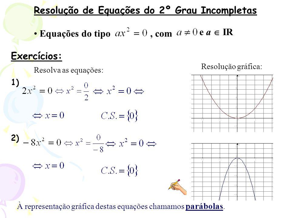 Resolução de Equações do 2º Grau Incompletas