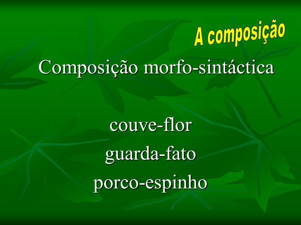 Composição morfo-sintáctica