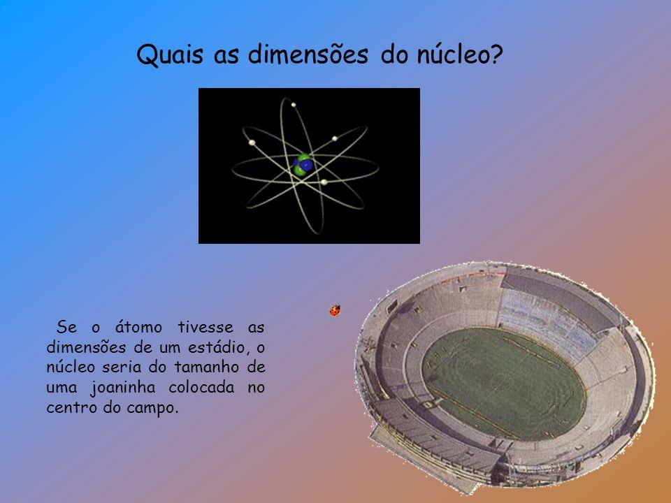Quais as dimensões do núcleo