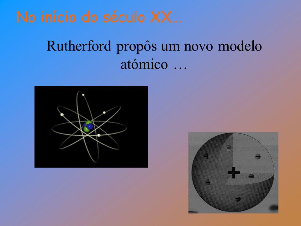 Rutherford propôs um novo modelo atómico …