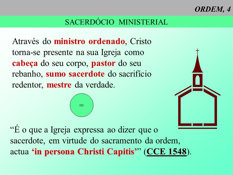 SACERDÓCIO MINISTERIAL