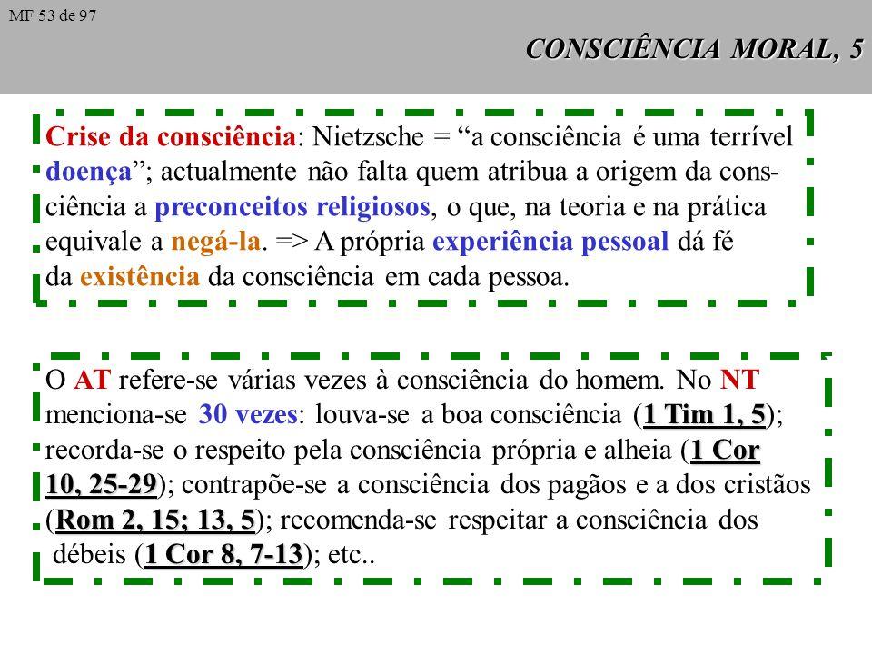 Crise da consciência: Nietzsche = a consciência é uma terrível