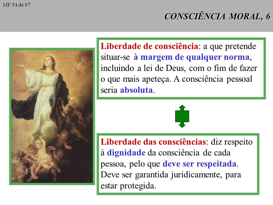 Liberdade de consciência: a que pretende
