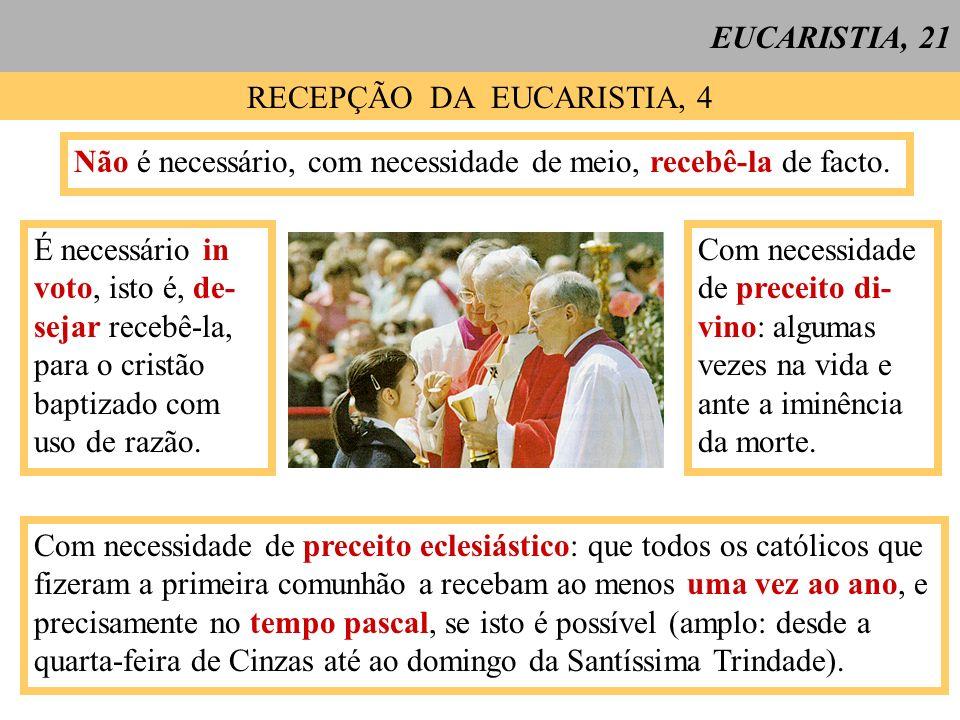 RECEPÇÃO DA EUCARISTIA, 4