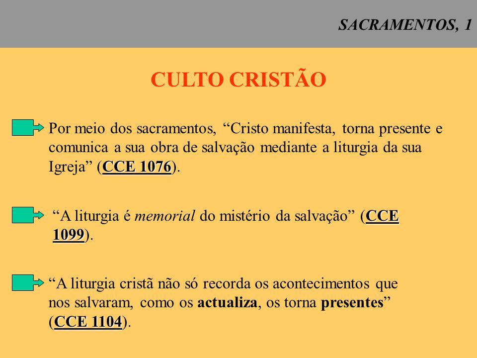 CULTO CRISTÃO SACRAMENTOS, 1