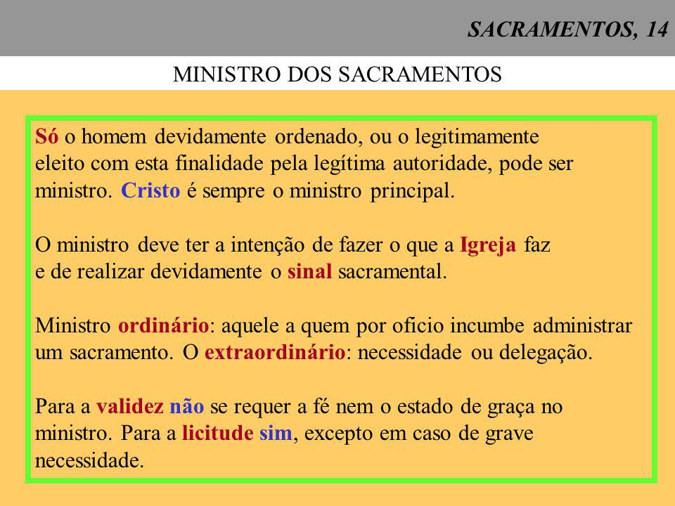 MINISTRO DOS SACRAMENTOS
