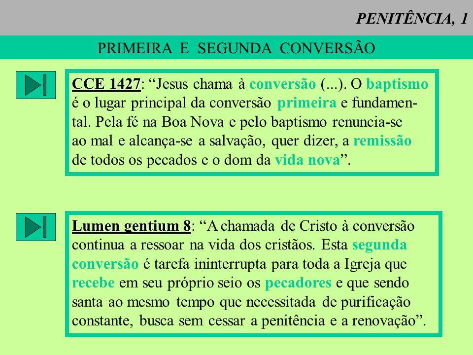 PRIMEIRA E SEGUNDA CONVERSÃO