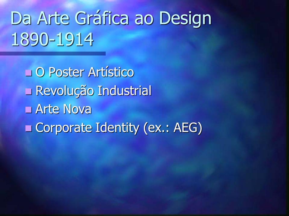 Da Arte Gráfica ao Design 1890-1914