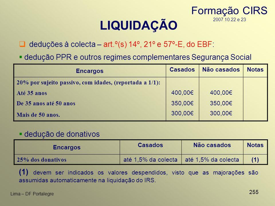 LIQUIDAÇÃO Formação CIRS 2007.10.22 e 23