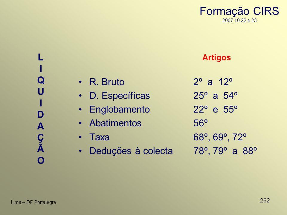 Formação CIRS 2007.10.22 e 23 R. Bruto 2º a 12º