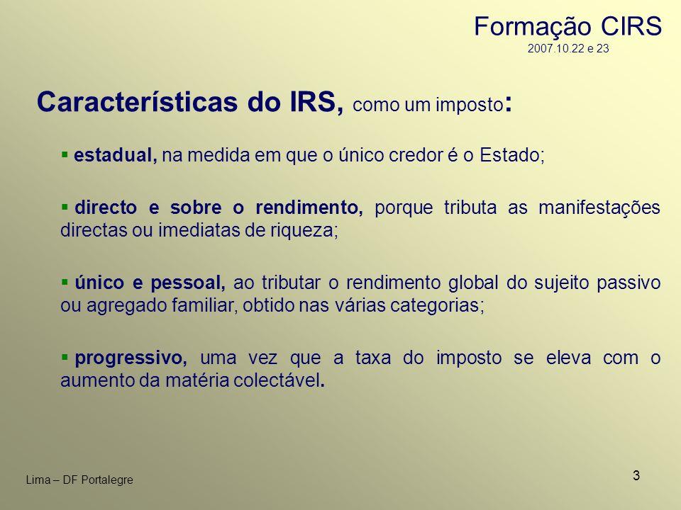Características do IRS, como um imposto: