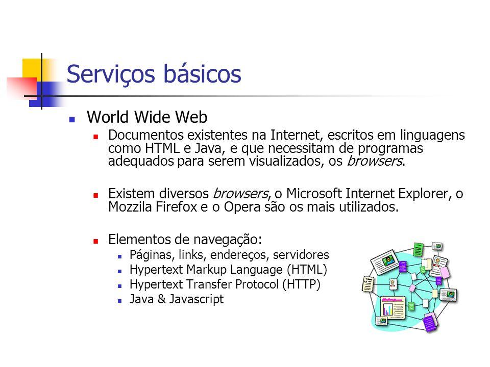 Serviços básicos World Wide Web