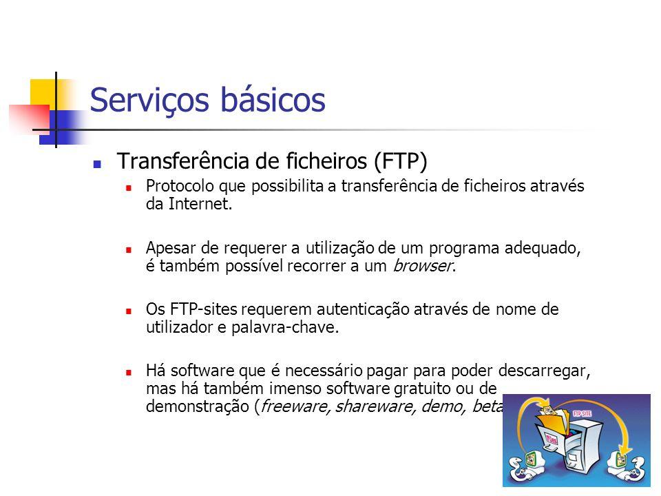 Serviços básicos Transferência de ficheiros (FTP)