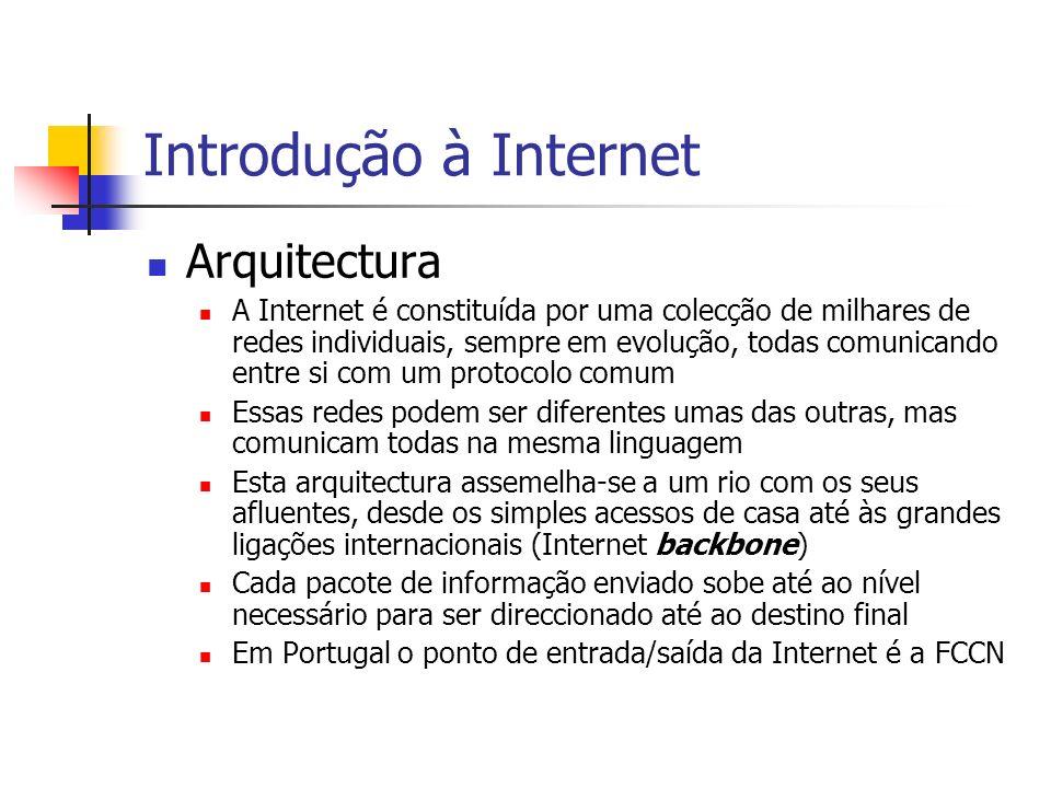 Introdução à Internet Arquitectura