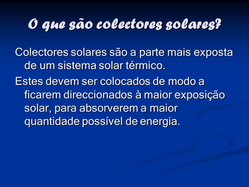 O que são colectores solares