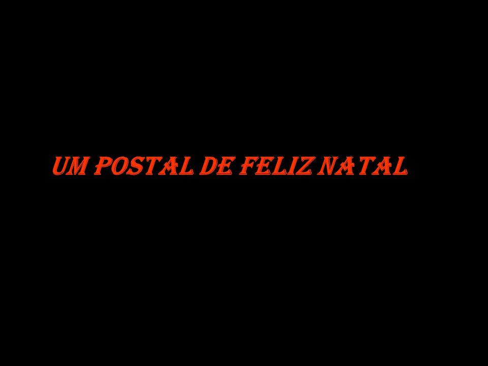 Um postal de Feliz Natal