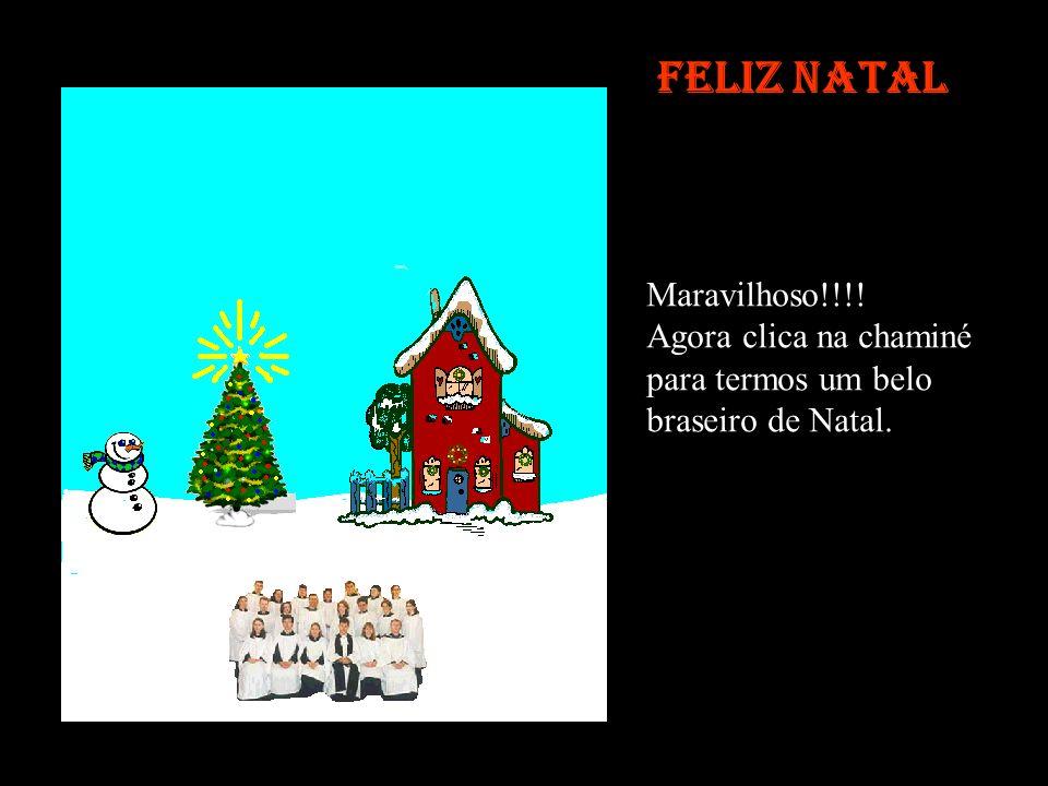 Feliz Natal Maravilhoso!!!! Agora clica na chaminé para termos um belo