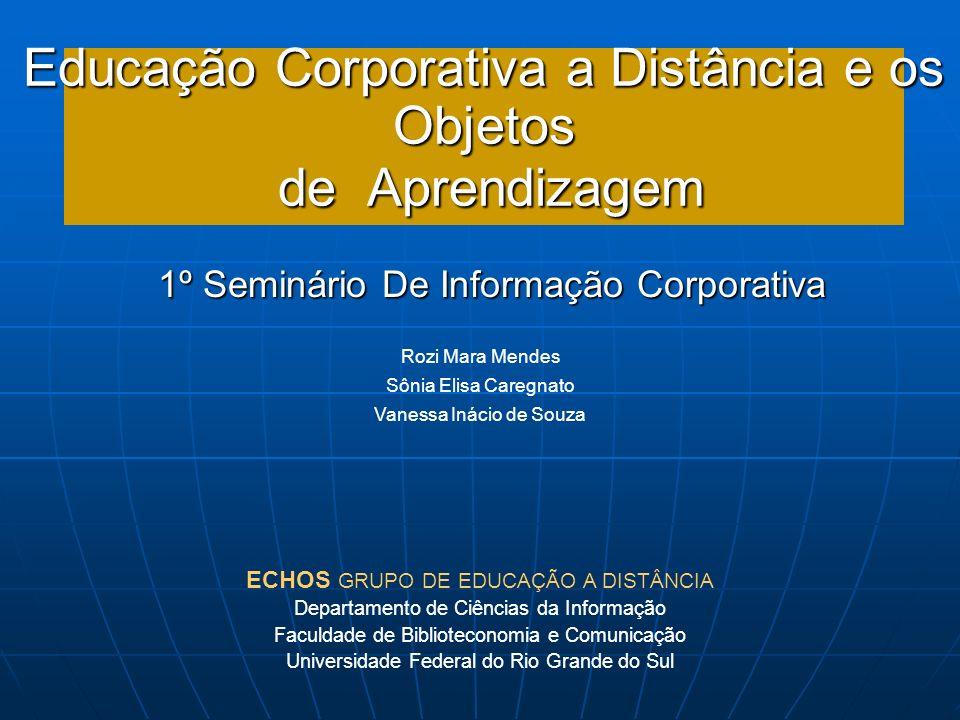 Educação Corporativa a Distância e os Objetos de Aprendizagem