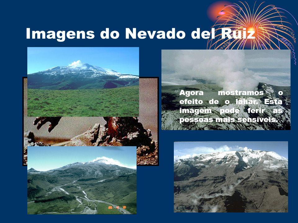 Imagens do Nevado del Ruiz