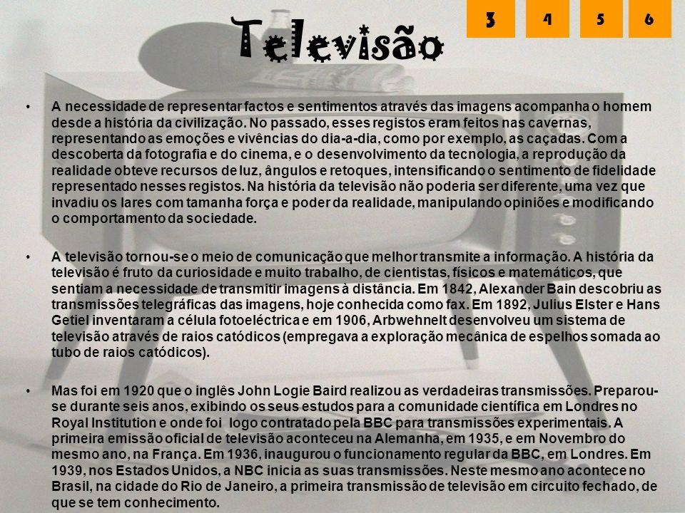 Televisão 3. 4. 5. 6.