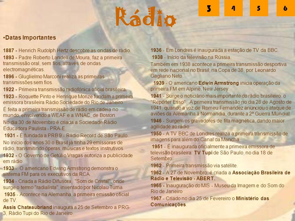 Rádio 3 4 5 6 Datas Importantes