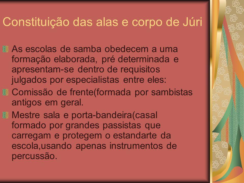 Constituição das alas e corpo de Júri