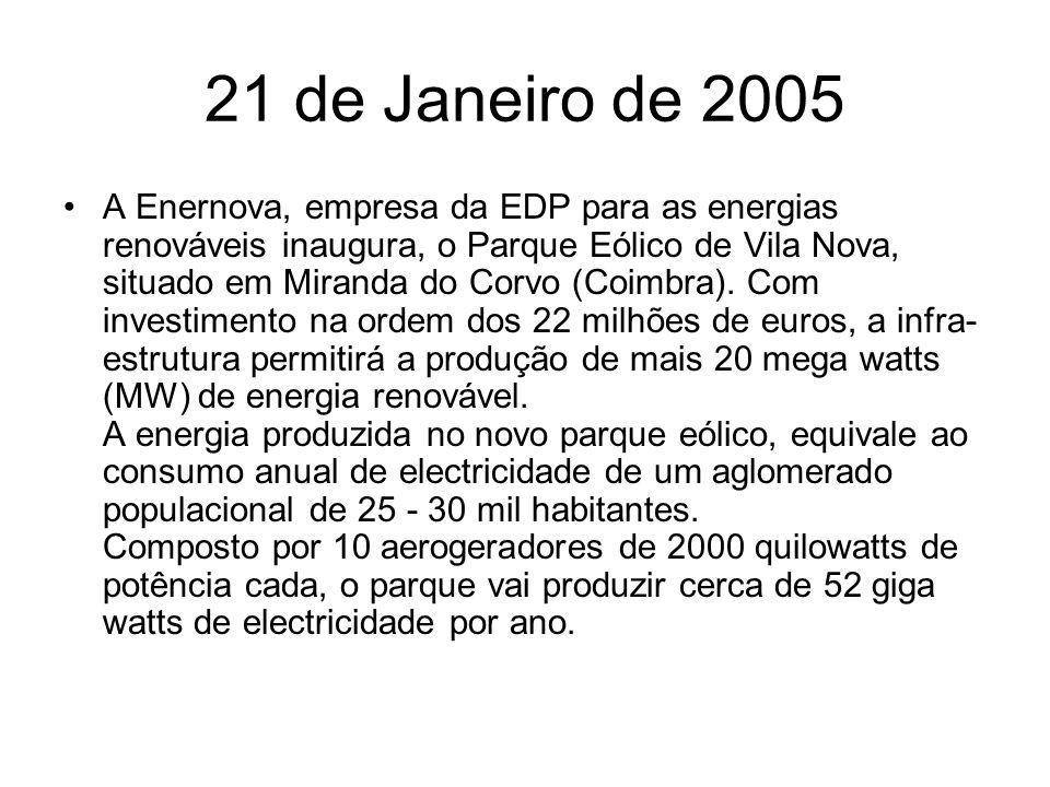 21 de Janeiro de 2005