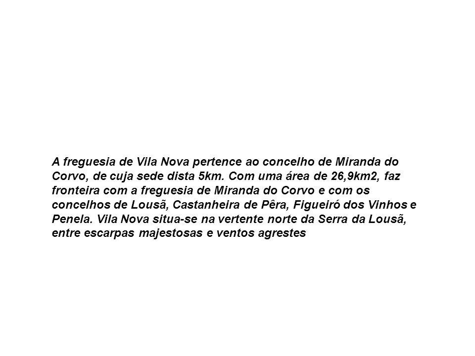 A freguesia de Vila Nova pertence ao concelho de Miranda do Corvo, de cuja sede dista 5km.