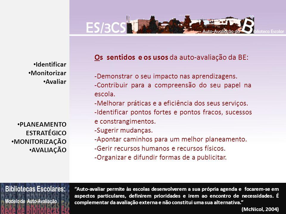 Os sentidos e os usos da auto-avaliação da BE: