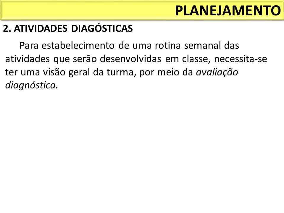 PLANEJAMENTO 2. ATIVIDADES DIAGÓSTICAS