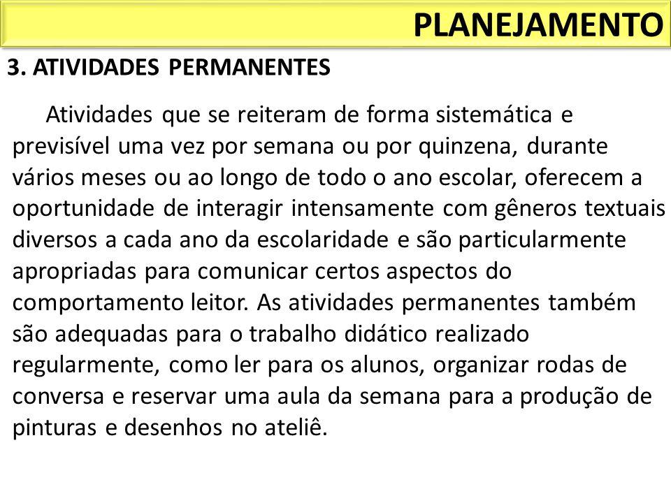 PLANEJAMENTO 3. ATIVIDADES PERMANENTES