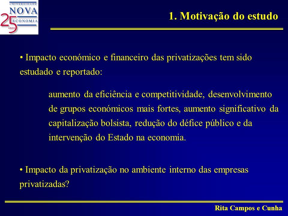 1. Motivação do estudo Impacto económico e financeiro das privatizações tem sido estudado e reportado: