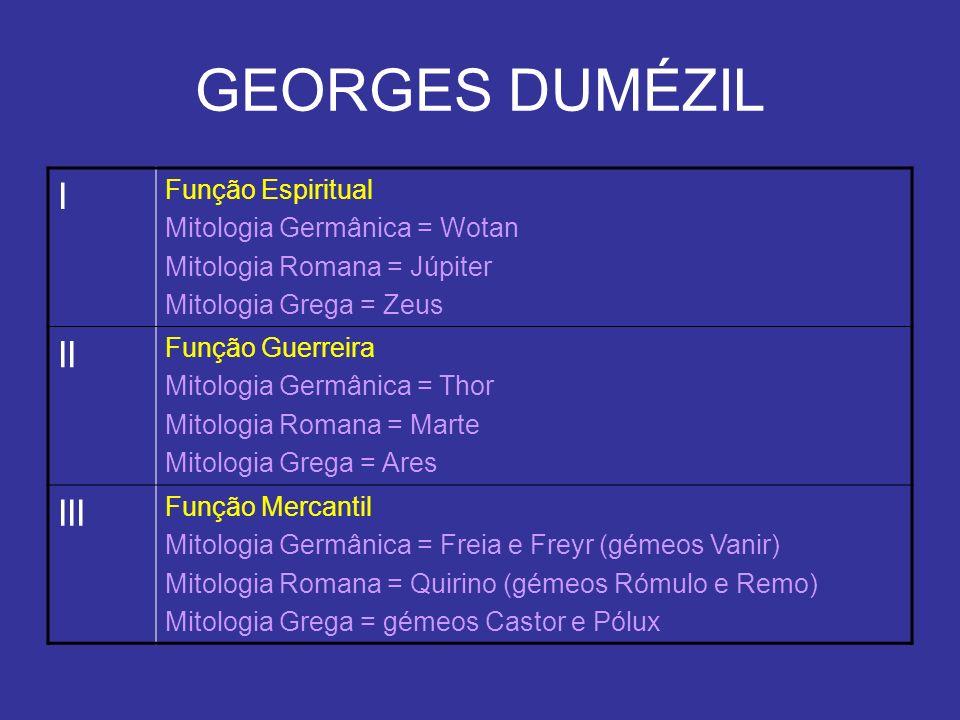 GEORGES DUMÉZIL I II III Função Espiritual Mitologia Germânica = Wotan