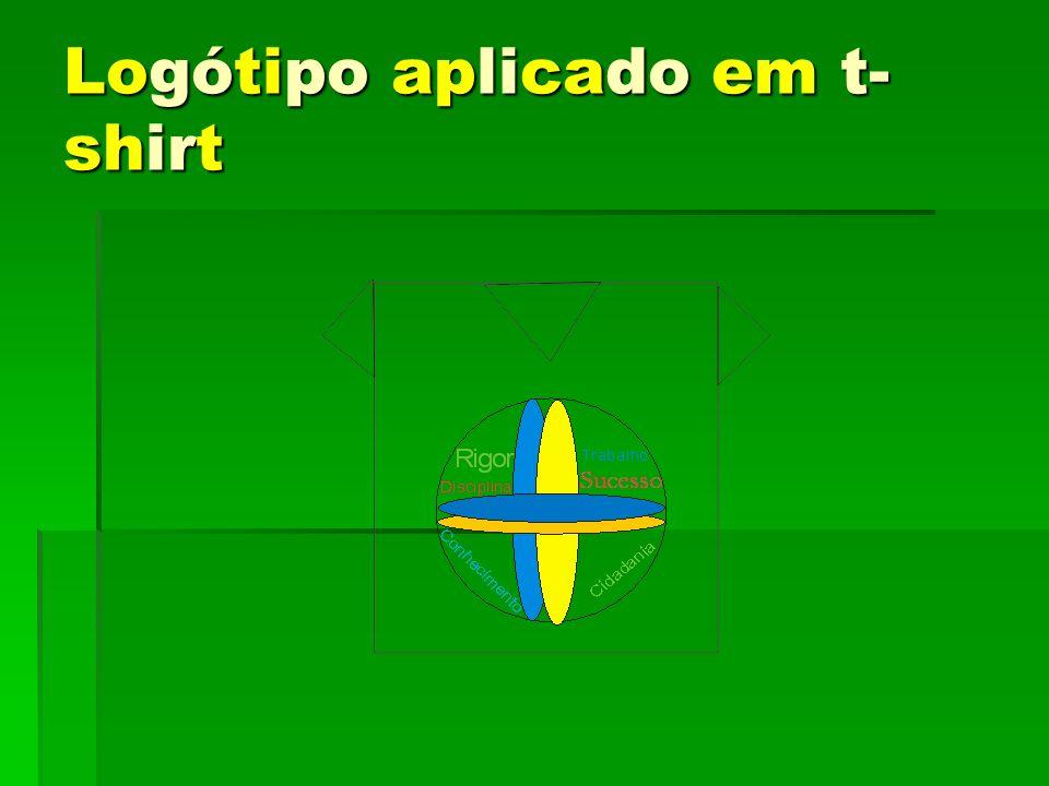Logótipo aplicado em t-shirt