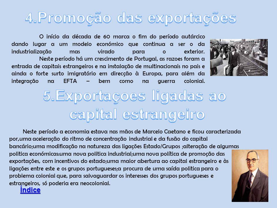 4.Promoção das exportações 5.Exportaçoes ligadas ao