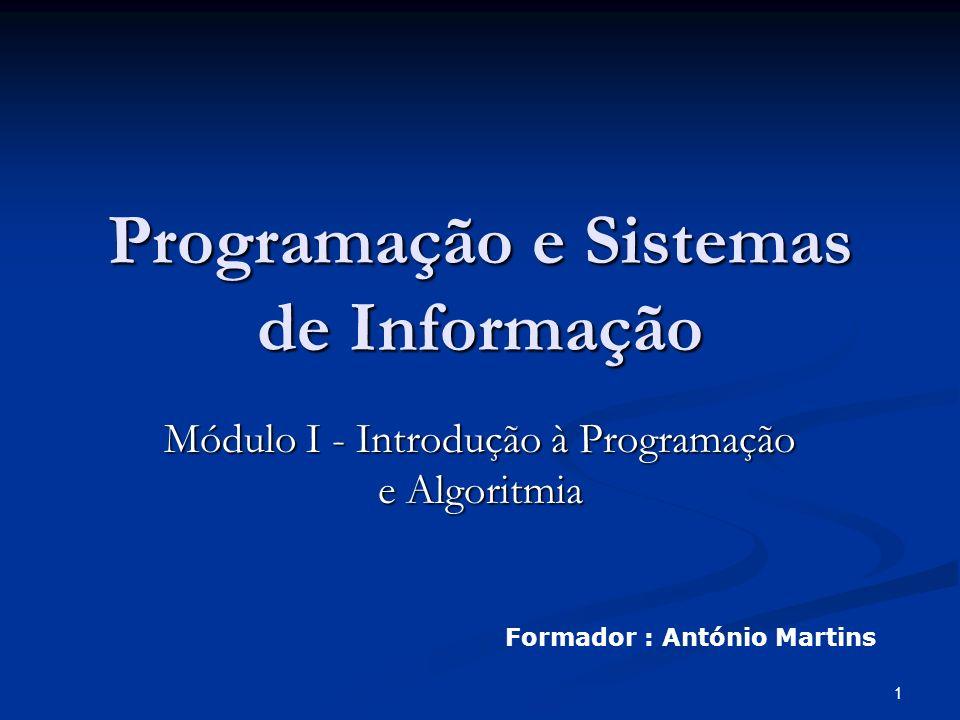 Programação e Sistemas de Informação